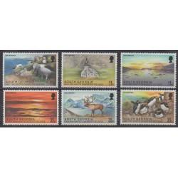Falkland-Géorgie du Sud et Sandwich du Sud - 1999 - No 309/314 - Animaux