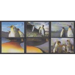 Falkland-Géorgie du Sud et Sandwich du Sud - 2005 - No 406/411 - Polaire - Oiseaux