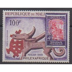 Mali - 1969 - Nb PA65 - Stamps on stamps