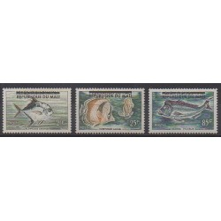Mali - 1961 - Nb 10/12 - Sea animals