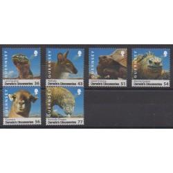Guernesey - 2009 - No 1241/1246 - Mammifères - Sciences et Techniques