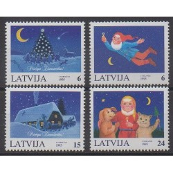 Latvia - 1995 - Nb 375/378 - Christmas