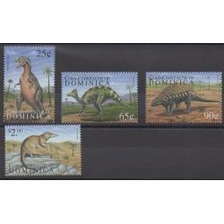 Dominique - 1999 - Nb 2365/2368 - Prehistoric animals