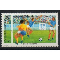 Polynesia - Airmail - 1978 - Nb PA137 - Soccer world cup