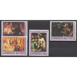 Dominique - 1992 - No 1381/1384 - Peinture - Pâques