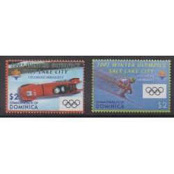 Dominique - 2002 - No 2847/2848 - Jeux olympiques d'hiver