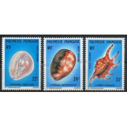 Polynésie - Poste aérienne - 1978 - No PA132/ PA134 - Coquillages