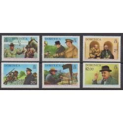 Dominique - 1974 - No 396/401 - Célébrités