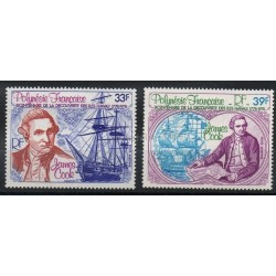 Polynesia - Airmail - 1978 - Nb PA130/PA131 - Celebrities - Boats