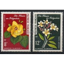 Polynésie - Poste aérienne - 1977 - No PA126/PA127 - Fleurs