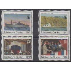 Tristan da Cunha - 1990 - Nb 475/478 - Boats