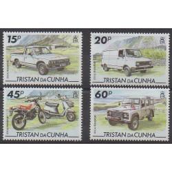 Tristan da Cunha - 1995 - Nb 548/551 - Cars - Motorcycles