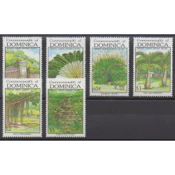Dominique - 1992 - No 1357/1362 - Arbres