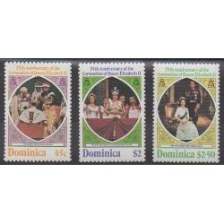 Dominique - 1978 - No 561/563 - Royauté - Principauté
