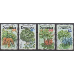 Dominique - 1979 - No 617/620 - Arbres