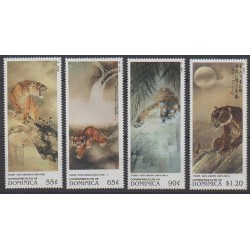 Dominique - 1998 - Nb 2144/2147 - Horoscope - Paintings