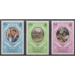 Dominique - 1981 - No 676/678 - Royauté - Principauté
