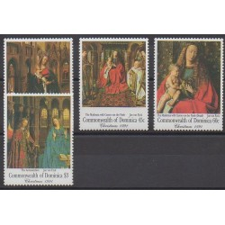Dominique - 1991 - Nb 1329/1332 - Religion - Paintings