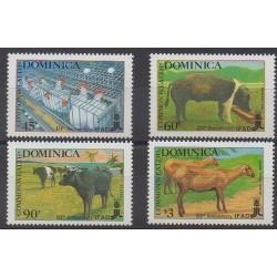 Dominique - 1988 - No 1031/1034 - Mammifères