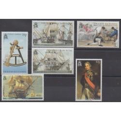 Tristan da Cunha - 2005 - No 768/773 - Navigation - Histoire militaire