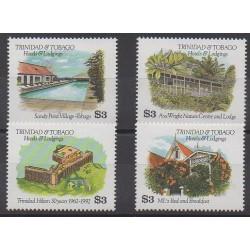 Trinidad and Tobago - 1994 - Nb 698/701 - Monuments