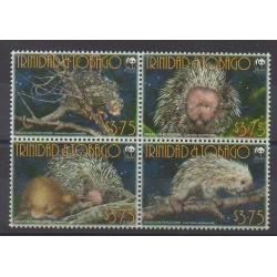 Trinité et Tobago - 2008 - No 952/955 - Mammifères - Espèces menacées - WWF