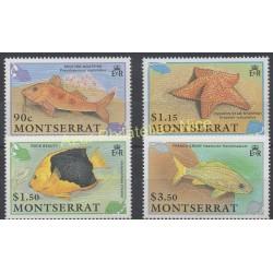 Montserrat - 1990 - No 747/750 - Poissons