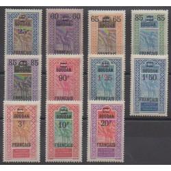 Soudan - 1922 - No 42/52 - Neufs avec charnière