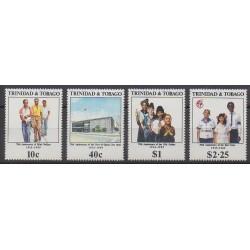 Trinidad and Tobago - 1989 - Nb 627/630 - Various Historics Themes