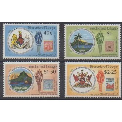 Trinidad and Tobago - 1989 - Nb 608/611 - Various Historics Themes - Stamps on stamps