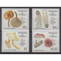 Trinidad and Tobago - 1990 - Nb 635/638 - Mushrooms