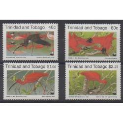 Trinité et Tobago - 1990 - No 639/642 - Oiseaux - Espèces menacées - WWF