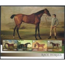 Liberia - 2015- Nb 5437A/5437D - Horses