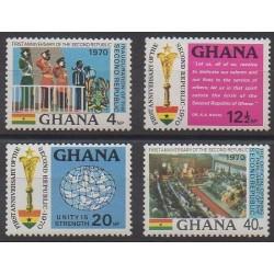 Ghana - 1970 - Nb 386/389 - Various Historics Themes