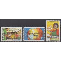 Ghana - 1986 - No 907/909 - Philatélie