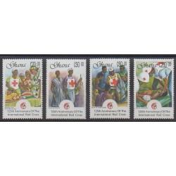 Ghana - 1988 - No 960/963 - Santé ou Croix-Rouge
