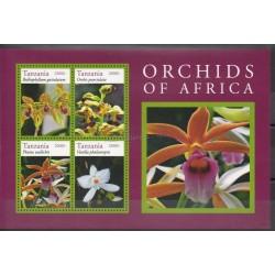 Tanzanie - 2015- No 3900/3903 - orchidées