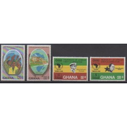 Ghana - 1988 - Nb 969/972 - Various Historics Themes