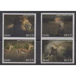 Ghana - 2013 - No 3445/3448 - Mammifères
