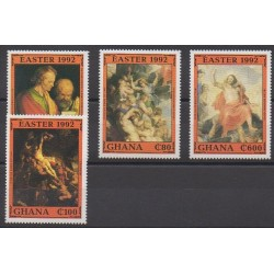 Ghana - 1992 - Nb 1326/1329 - Easter - Paintings