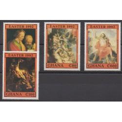 Ghana - 1992 - No 1326/1329 - Pâques - Peinture