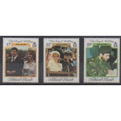 Falkland - 1986 - No 469/471 - Royauté - Principauté