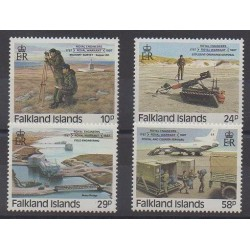 Falkland - 1987 - No 472/475 - Histoire militaire