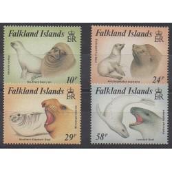 Falkland - 1987 - No 476/479 - Animaux marins - Mammifères
