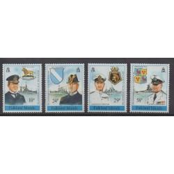 Falkland - 1989 - Nb 525/528 - Military history