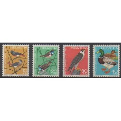 Swiss - 1971 - Nb 891/894 - Birds