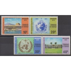 Trinidad and Tobago - 1973 - Nb 318/321 - Various Historics Themes