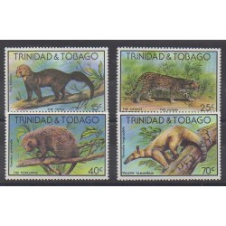 Trinidad and Tobago - 1978 - Nb 380/383 - Mamals