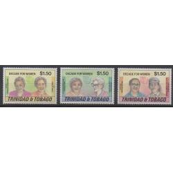 Trinidad and Tobago - 1985 - Nb 526/528 - Celebrities