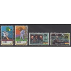 Ghana - 1970 - Nb 374/377 - Space